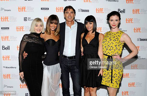 Actors Barbara Crampton Sharni Vinson Rob Moran Wendy Glenn and Amy Seimetz arrive at You're Next Premiere at Ryerson Theatre during the 2011 Toronto...