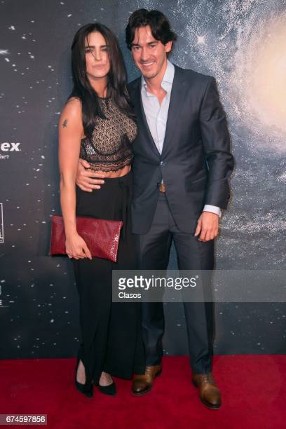 Actors Barbara de Regil and Fernando Swombel pose during the 13th Luminus Awards at Telcel Theater on April 27 2017 in Mexico City Mexico