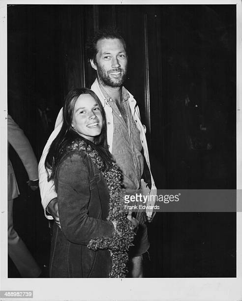 Actors Barbara Hershey and David Carradine attending the ABC Television Network Party at the Century Plaza Hotel California April 28th 1972