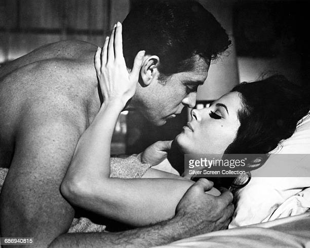 Actors Barbara Parkins as Anne Welles and Paul Burke as Lyon Burke in the film 'Valley of the Dolls' based on the novel by Jacqueline Susann 1967