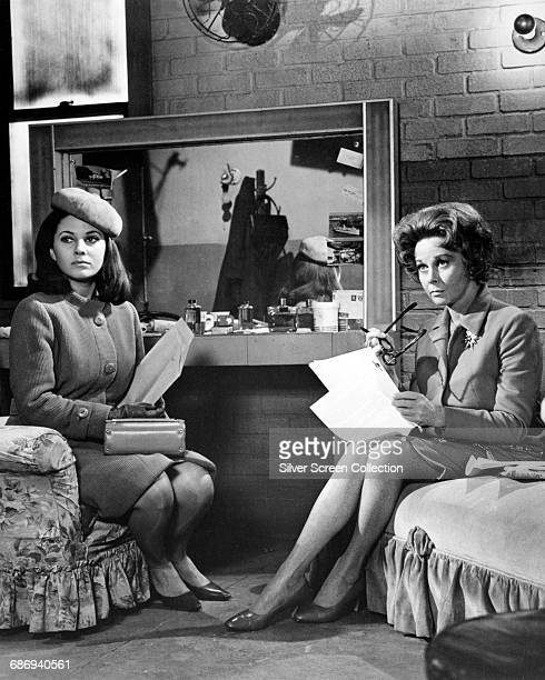 Actors Barbara Parkins as Anne Welles and Susan Hayward as Helen Lawson in the film 'Valley of the Dolls' based on the novel by Jacqueline Susann 1967