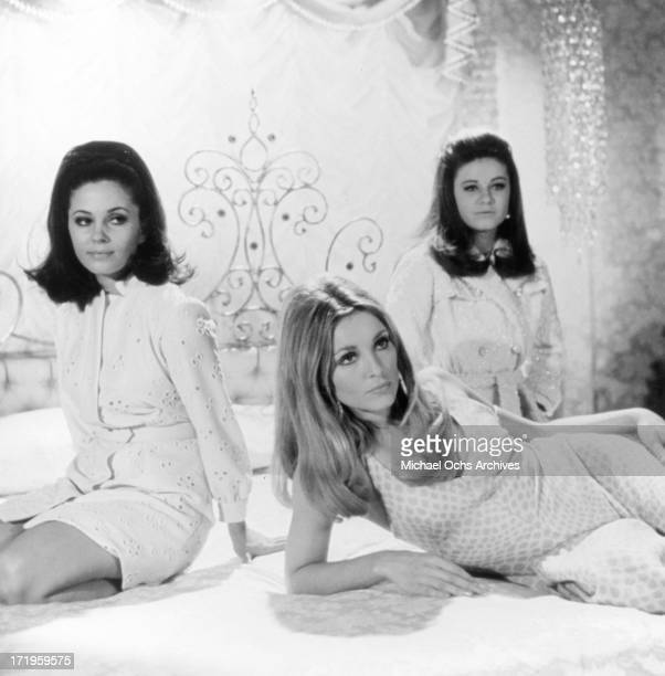 Actors Barbara Perkins Sharon Tate and Patty Duke in a still from the movie 'Valley Of The Dolls' in 1967