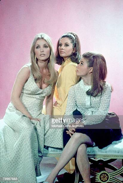 Actors Barbara Perkins Sharon Tate and Patty Duke in a still from the movie Valley Of The Dolls in 1967