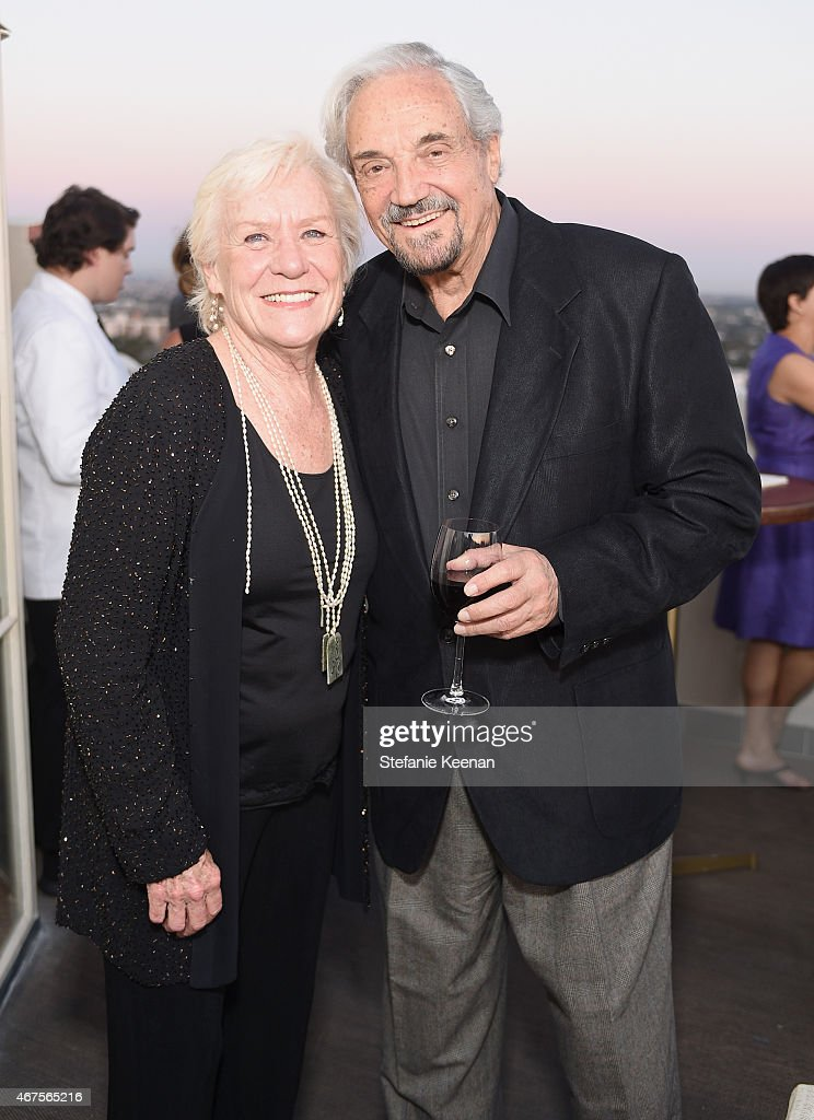 Actors Barbara Tarbuck (L) and Hal Linden attends The Tony Awards celebration of Broadway in Hollywood at Sunset Towers on March 25, 2015 in West Hollywood, California.