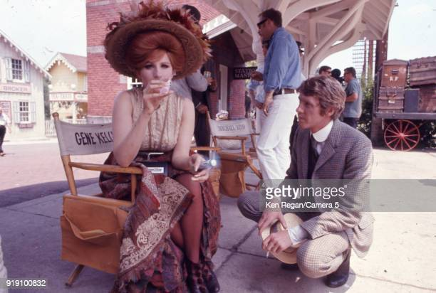 Actors Barbra Streisand and Michael Crawford are photographed on the set of ''Hello Dolly in 1969 Poughkeepsie New York CREDIT MUST READ Ken...