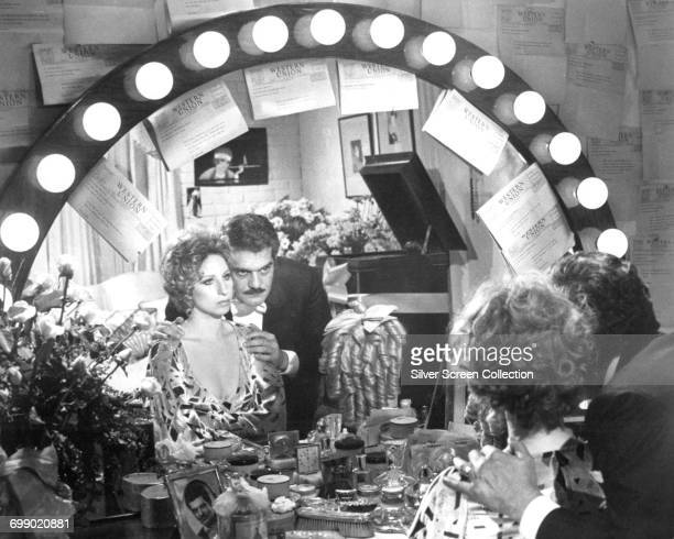 Actors Barbra Streisand as Fanny Brice and Omar Sharif as Nicky Arnstein in the biopic 'Funny Girl', 1968.