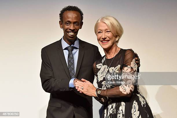 Actors Barkhad Abdi and Helen Mirren attend the 'Eye in the Sky' premiere during the 2015 Toronto International Film Festival at Roy Thomson Hall on...