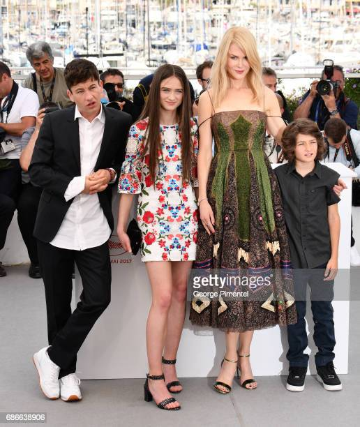 Actors Barry Keoghan Raffey Cassidy Nicole kidman and Sunny Sulic attend the 'The Killing Of A Sacred Deer' photocall during the 70th annual Cannes...