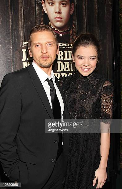 Actors Barry Pepper and Hailee Steinfeld arrive at the screening of Paramount Pictures' 'True Grit' at the Academy of Motion Picture Arts and...