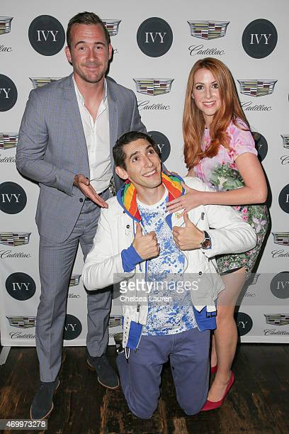 Actors Barry Sloane screenwriter Max Landis and actress Katy O'Grady attend the IVY Los Angeles innovator dinner presented by Cadillac and IVY at AOC...