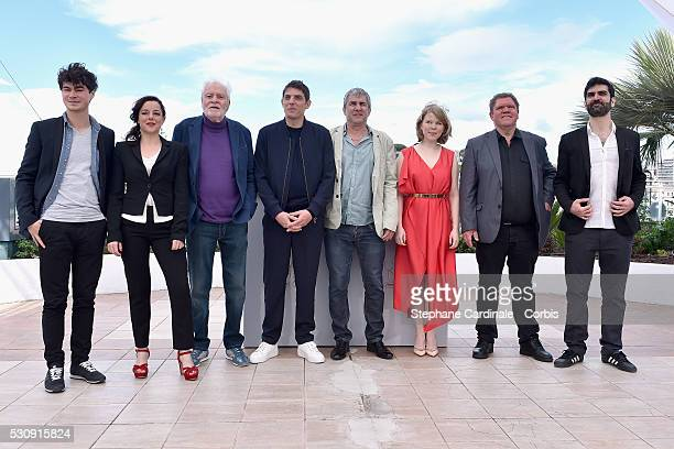 Actors Basile Meilleurat Laure Calamy Christian Bouillette Damien Bonnard director Alain Guiraudie actors India Hair Raphael Thiery and Sebastien...