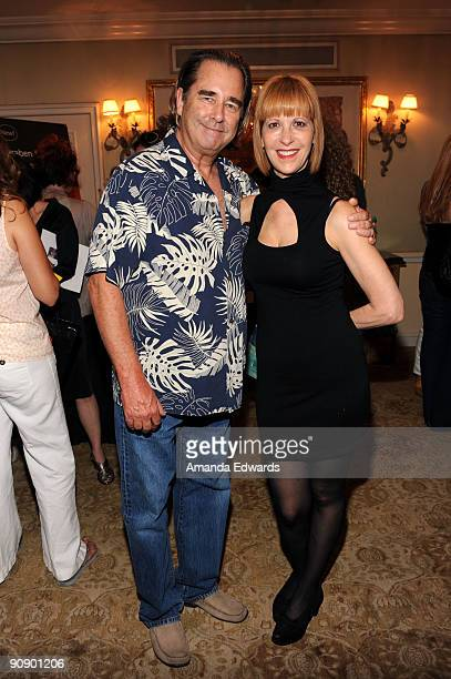 Actors Beau Bridges and Ellen Greene attend the DPA preEmmy Gift Lounge at the Peninsula Hotel on September 17 2009 in Beverly Hills California