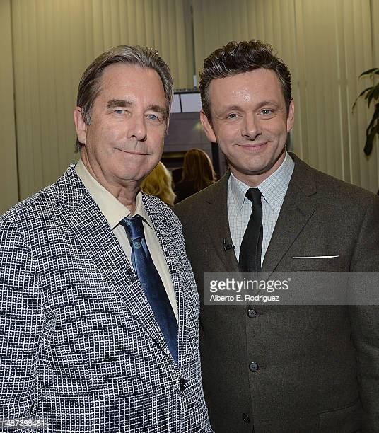 Actors Beau Bridges and Michael Sheen arrive to an exclusive conversation with the cast of Showtime's Masters Of Sex at Leonard H Goldenson Theatre...