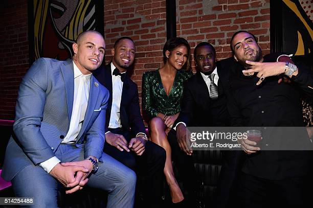 Actors Beau Casper Smart Terrence Jenkins Cassie Ventura Sean 'Diddy' Combs and actor/rapper French Montana attend the after party for the premiere...