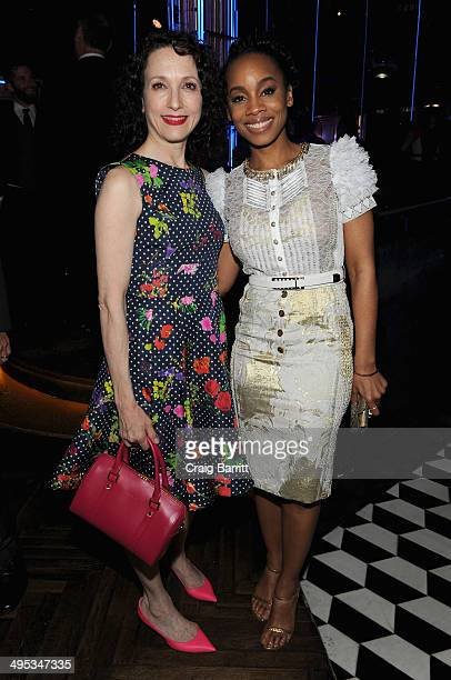 Actors Bebe Neuwirth and Anika Noni Rose attend the 2014 Tony Honors Cocktail Party at the Paramount Hotel on June 2 2014 in New York City