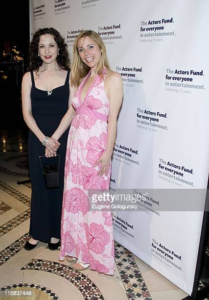 Actors Bebe Neuwirth and Kerry Butler attend the Actors' Fund 2008 Gala at Cipriani 42nd Street on May 5 2008 in New York City