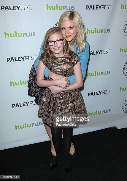 Actors Bebe Wood and Georgia King attend the 30th annual PaleyFest featuring the cast of The New Normal at Saban Theatre on March 6 2013 in Beverly...