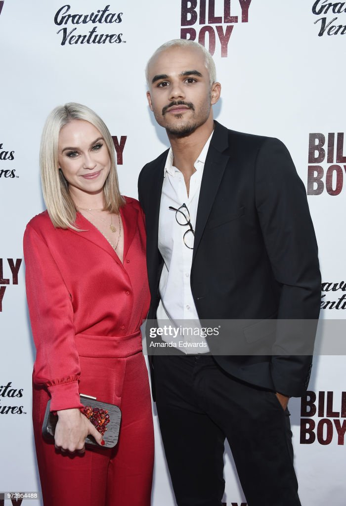 Actors Becca Tobin (L) and Jacob Artist arrive at the Los Angeles premiere of 'Billy Boy' at the Laemmle Music Hall on June 12, 2018 in Beverly Hills, California.