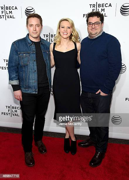 Actors Beck Bennett Kate McKinnon and Bobby Moynihan attend the Opening Night premiere of Live From New York during the 2015 Tribeca Film Festival at...