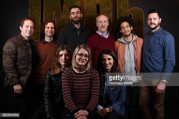 Actors Beck Bennett Kyle Mooney guest Matt Walsh Jorge Lendeborg Jr guest actresses Kate Lyn Sheil Ryan Simpkins and Michaela Watkins of 'Brigsby...