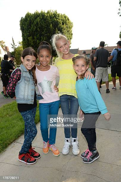 Actors behind the scenes at the set of the new Jordache commercial at Warner Bros Studios on July 26 2013 in Burbank California