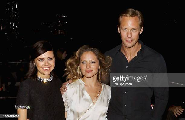 Actors Bel Powley Margarita Levieva and Alexander Skarsgard attend the after party for the screening of Sony Pictures Classics 'The Diary Of A...