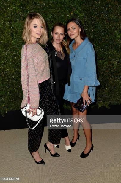 Actors Bella Heathcote Teresa Palmer and Phoebe Tonkin attend the celebration of Chanel's Gabrielle Bag hosted by Caroline De Maigret and Pharrell...