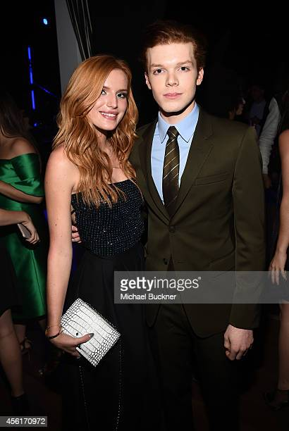 Actors Bella Thorne and Cameron Monaghan attend the 12th Annual Teen Vogue Young Hollywood Party with Emporio Armani on September 26 2014 in Beverly...