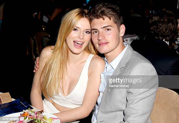 Actors Bella Thorne and Gregg Sulkin attend the 6th Annual Thirst Gala at the Beverly Hilton Hotel on June 30 2015 in Beverly Hills California