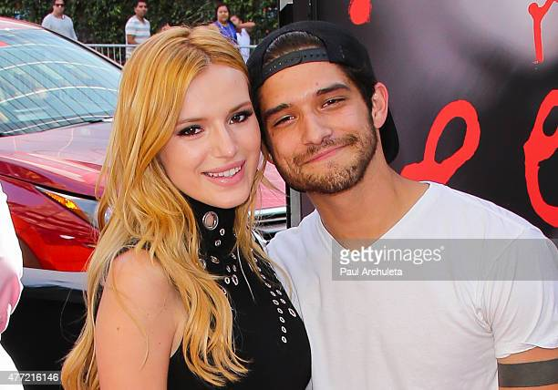 Actors Bella Thorne and Tyler Posey attend the premiere of MTV's Scream at the 2015 Los Angeles Film Festival at Regal Cinemas LA Live on June 14...