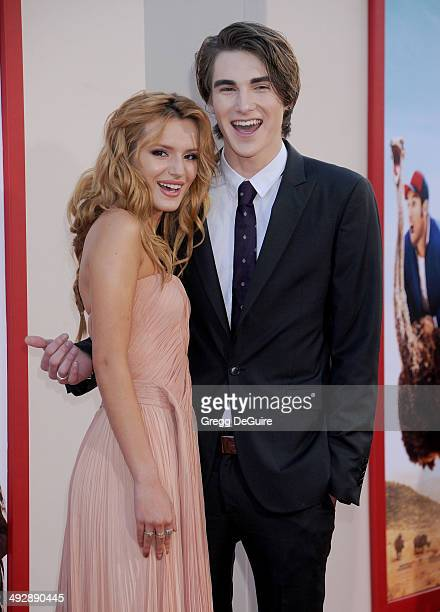 Actors Bella Thorne and Zak Henri arrive at the Los Angeles premiere of 'Blended' at TCL Chinese Theatre on May 21 2014 in Hollywood California