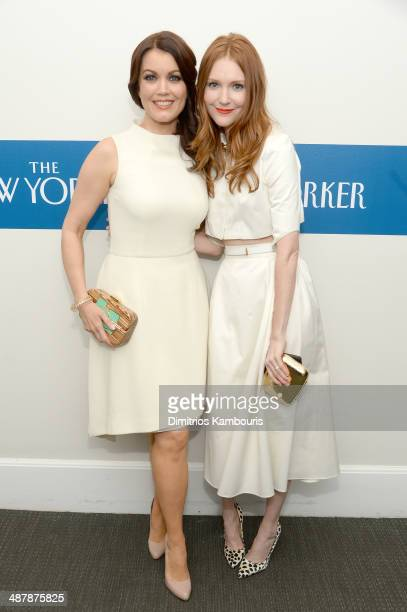 Actors Bellamy Young and Darby Stanchfield attend the White House Correspondents' Dinner Weekend PreParty hosted by The New Yorker's David Remnick at...