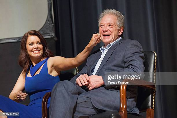 Actors Bellamy Young and Jeff Perry attend the Smithsonian Associates's 'Scandalous' discussion with the cast and executive producers of ABC's...