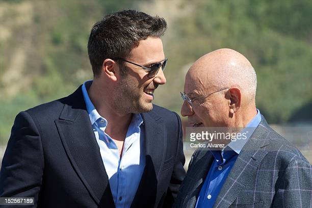 "Actors Ben Affleck and Alan Arkin attend ""Argo"" photocall at the Kursaal Palace during the 60th San Sebastian International Film Festival on..."