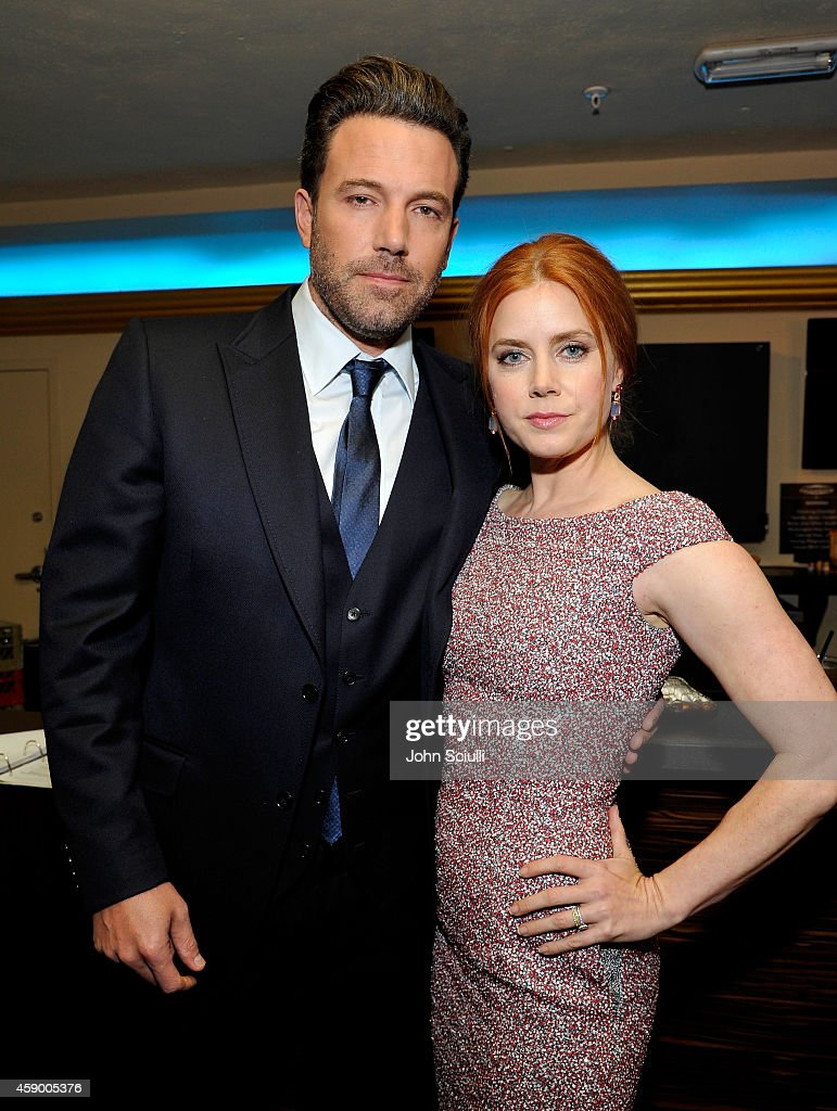 Actors Ben Affleck (L) and Amy Adams attend the 18th Annual Hollywood Film Awards at The Palladium on November 14, 2014 in Hollywood, California.