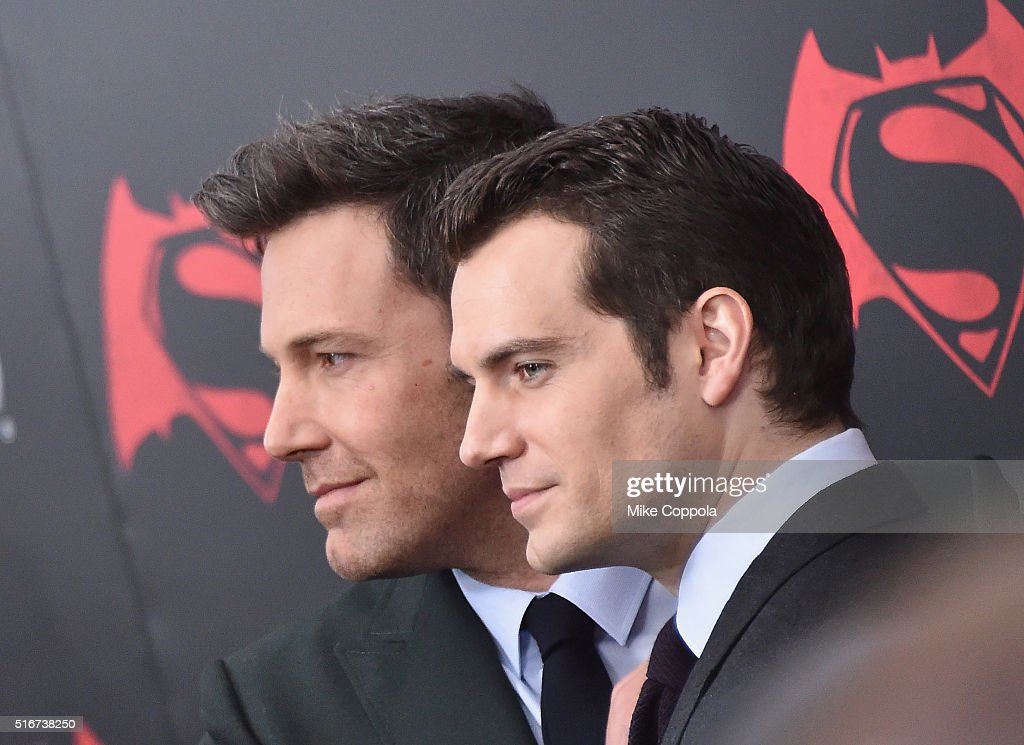 Actors Ben Affleck (L) and Henry Cavill attend The 'Batman V Superman: Dawn Of Justice' New York Premiere at Radio City Music Hall on March 20, 2016 in New York City.
