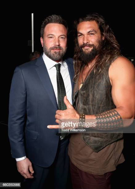"Actors Ben Affleck and Jason Momoa at CinemaCon 2017 Warner Bros Pictures Invites You to ""The Big Picture"" an Exclusive Presentation of our Upcoming..."