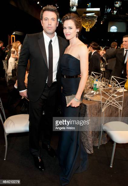 Actors Ben Affleck and Jennifer Garner attend the 20th Annual Screen Actors Guild Awards at The Shrine Auditorium on January 18 2014 in Los Angeles...