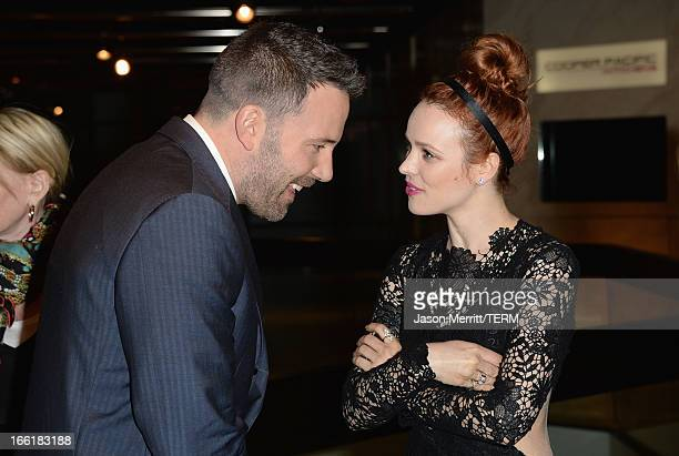 Actors Ben Affleck and Rachel McAdams attend the premiere of Magnolia Pictures' To The Wonder at Pacific Design Center on April 9 2013 in West...
