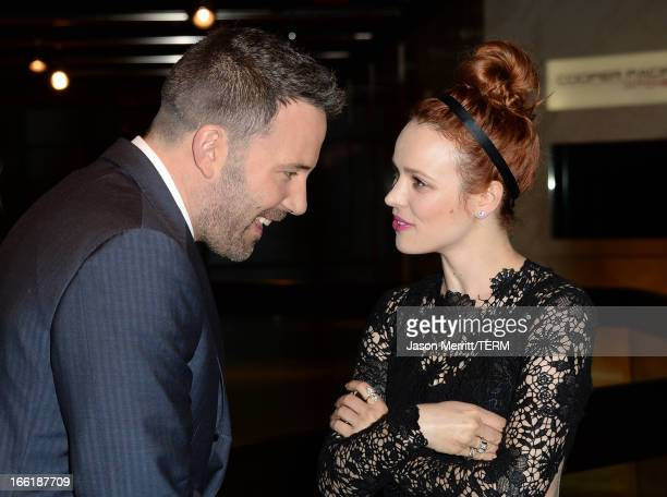 Actors Ben Affleck and Rachel McAdams attend the premiere of Magnolia Pictures' 'To The Wonder' at Pacific Design Center on April 9 2013 in West...
