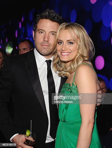 Actors Ben Affleck and Taylor Schilling attend the 2014 InStyle And Warner Bros 71st Annual Golden Globe Awards PostParty at The Beverly Hilton Hotel...