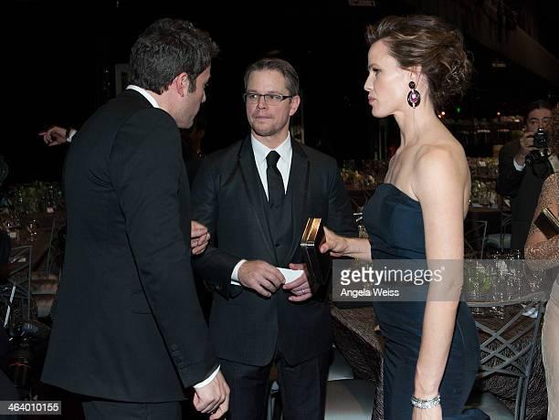 Actors Ben Affleck, Matt Damon and Jennifer Garner attend the 20th Annual Screen Actors Guild Awards at The Shrine Auditorium on January 18, 2014 in...