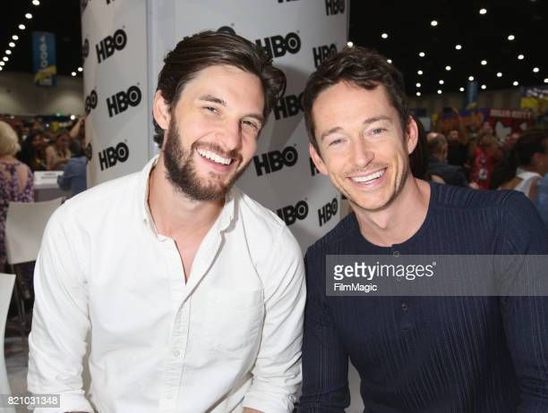 Actors Ben Barnes and Simon Quarterman attend the 'Westworld' signing during San Diego ComicCon 2017 at San Diego Convention Center on July 22 2017...