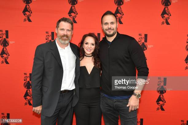 Actors Ben Browder, Charyl Texiera and Max Decker on the red carpet for the movie HOAX Premiere at Sie FilmCenter on August 10, 2019 in Denver,...