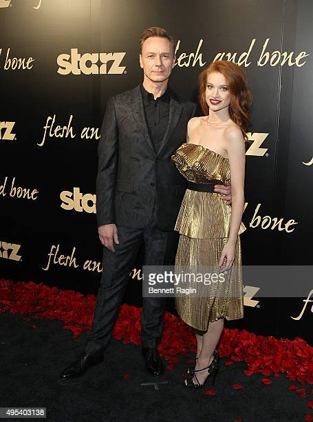 Actors Ben Daniels and Sarah Hay attend the 'Flesh And Bone' New York limited series premiere at Jack H Skirball Center for the Performing Arts on...