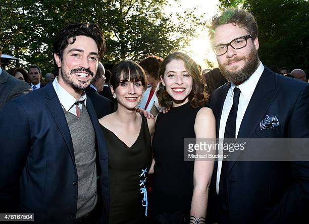 Actors Ben FeldmanMichelle Mulitz Lauren Miller and Seth Rogen attend the 14th annual Chrysalis Butterfly Ball sponsored by Audi Kayne Anderson...