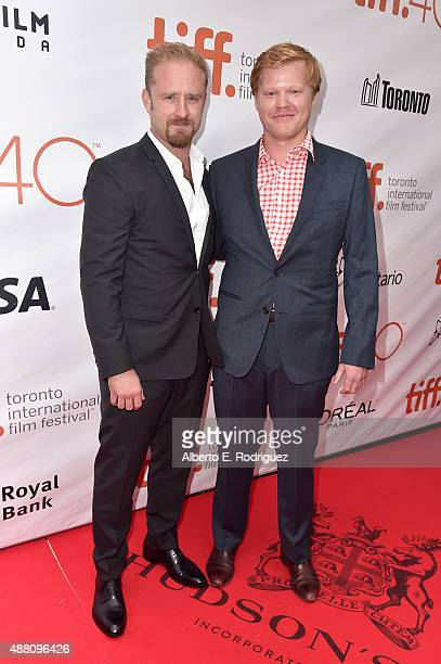 Actors Ben Foster and Jesse Plemons attend The Program premiere during the 2015 Toronto International Film Festival at Roy Thomson Hall on September...