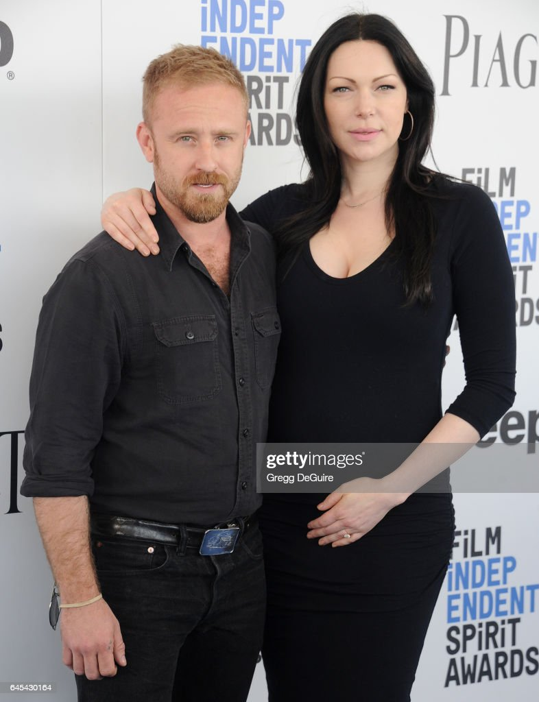 Actors Ben Foster and Laura Prepon arrive at the 2017 Film Independent Spirit Awards on February 25, 2017 in Santa Monica, California.