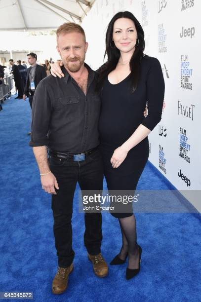 Actors Ben Foster and Laura Prepon attend the 2017 Film Independent Spirit Awards at Santa Monica Pier on February 25, 2017 in Santa Monica,...