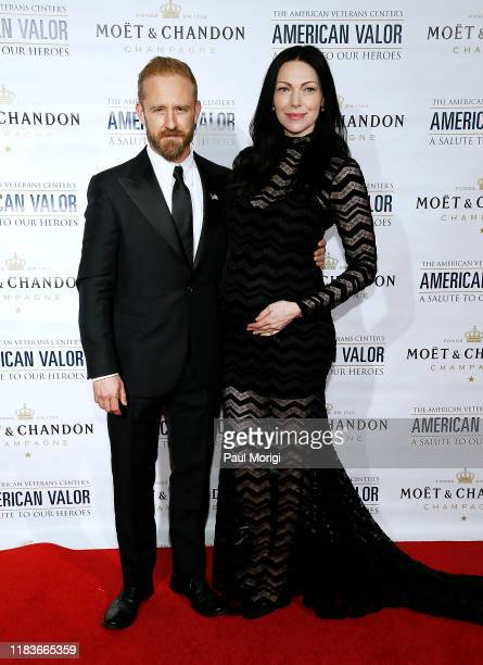"Actors Ben Foster and Laura Prepon attend the American Veterans Center's ""2019 American Valor: A Salute to Our Heroes"" Veterans Day Special at the..."